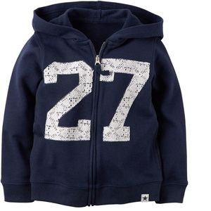 Carter's French Terry Hoodie Jacket Navy Size 2T